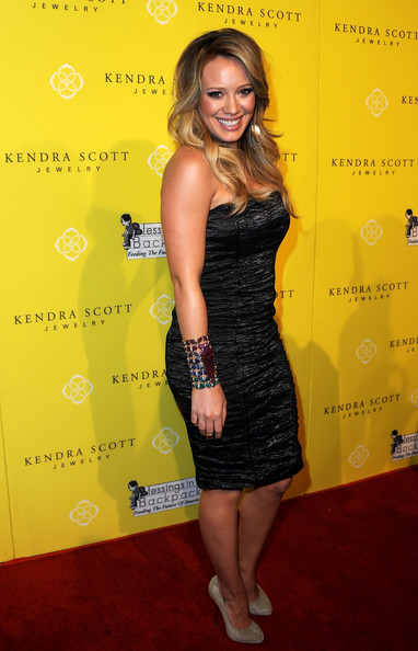 Hilary Duff Strapless Dress
