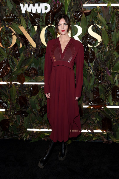 Hilary Rhoda Motorcycle Boots [clothing,dress,maroon,fashion,formal wear,pink,robe,fashion design,magenta,nightwear,hilary rhoda,barclay,wwd honors,new york city,intercontinental new york]