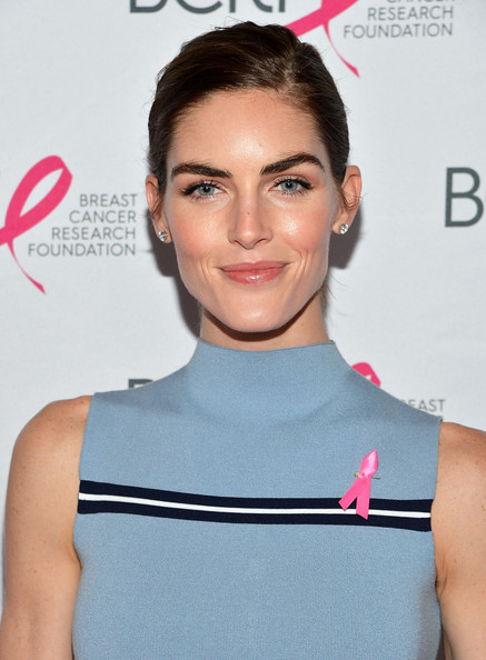 Hilary Rhoda Classic Bun [face,hair,eyebrow,hairstyle,beauty,cheek,skin,shoulder,chin,lip,new york city,the waldorf astoria,breast cancer research foundations symposium awards luncheon,hilary rhoda]