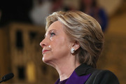 Hillary Clinton sported a stylish short 'do while making a statement after her presidential election loss.