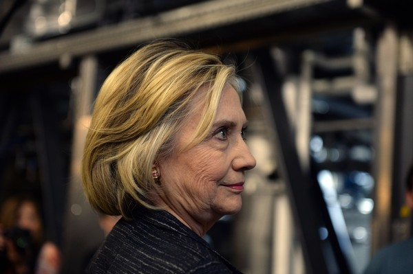 Hillary Clinton Bob [hair,face,blond,hairstyle,head,beauty,chin,human,smile,long hair,hillary clinton,clinton,candidacy,new hampshire,hampton,democratic,smuttynose brewery,trips]