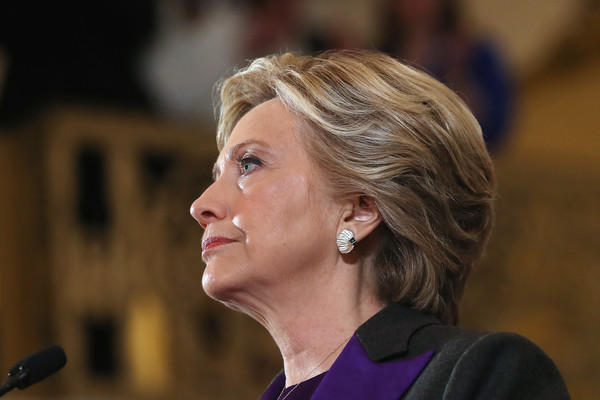 Hillary Clinton Short Side Part [hair,hairstyle,chin,human,blond,ear,white-collar worker,spokesperson,official,hillary clinton,donald trump,statement,upset,new yorker hotel,new york city,republican,loss,election,election]