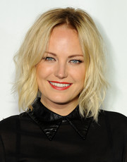 Malin Akerman sported edgy-chic piecey waves during the Q&A with Ann Curry event.