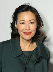 Ann Curry kept it simple with this shoulder-length curly 'do during her Q&A event.