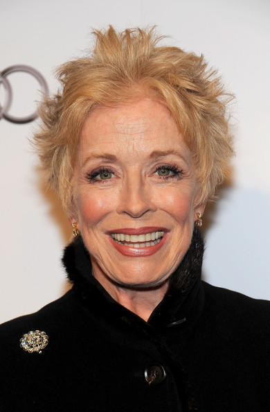 Holland Taylor Messy Cut [hair,face,hairstyle,facial expression,eyebrow,blond,chin,forehead,smile,lip,arrivals,holland taylor,beverly hills hotel,california,academy of television arts sciences,hall of fame gala]