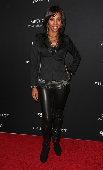 Holly Robinson Peete Leather Pants
