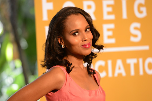 More Pics of Kerry Washington Medium Curls (1 of 19) - Medium Curls Lookbook - StyleBistro