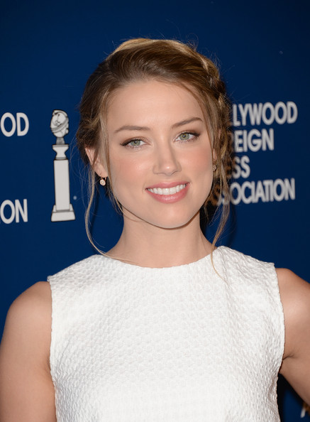 More Pics of Amber Heard Braided Bun (1 of 47) - Braided Bun Lookbook - StyleBistro