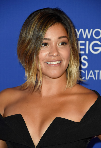 Gina Rodriguez's Highlighted Bob
