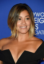 Gina Rodriguez framed her face with this trendy graduated bob for the HFPA Grants Banquet.