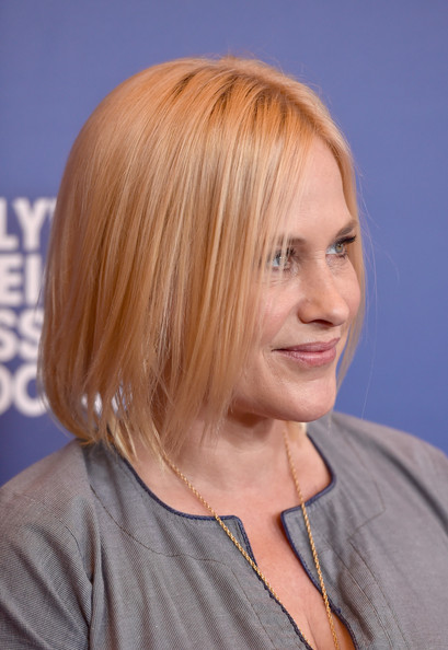Patricia Arquette sported a sleek mid-length bob at the Hollywood Foreign Press Association's Grants Banquet.