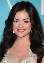 Lucy Hale added a little flirt to her wink with defined false lashes.
