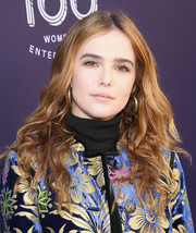 Zoey Deutch was hippie-chic with her center-parted curls at the Hollywood Reporter's 2017 Women in Entertainment Breakfast.