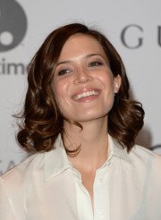 Mandy Moore attended the Women in Entertainment Breakfast wearing a cute curly 'do.