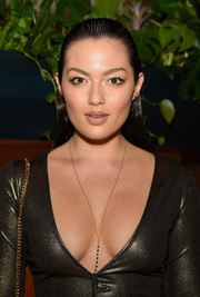 Mia Kang attended the Hollywood Reporter's 35 Most Powerful People in Media rocking a wet-look hairstyle.