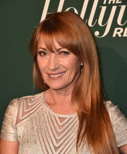 Jane Seymour sported her usual loose tresses with wispy bangs at the Hollywood Reporter Nominees Night.