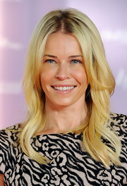 Chelsea Handler wore her blond tresses in soft waves at the Women in Entertainment breakfast.