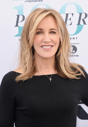 Felicity Huffman sported a retro-inspired layered cut at the Hollywood Reporter's Women in Entertainment Breakfast.