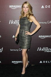 Brooke Nevin stepped out in a simple yet fierce metallic mini dress during the Next Gen 20th anniversary gala.