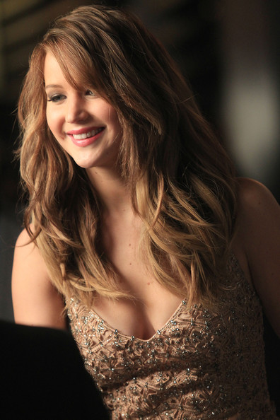 More Pics of Jennifer Lawrence Long Wavy Cut (1 of 15) - Long Hairstyles Lookbook - StyleBistro