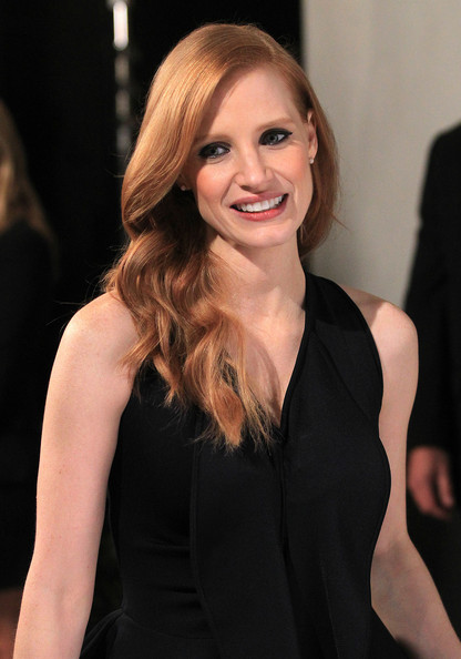 More Pics of Jessica Chastain Little Black Dress (2 of 26) - Jessica Chastain Lookbook - StyleBistro