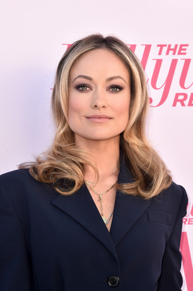 Olivia Wilde looked gorgeous with her long center-parted waves at the Hollywood Reporter's Power 100 Women in Entertainment celebration.