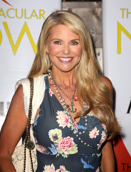 More Pics of Christie Brinkley Long Straight Cut (1 of 3) - Long Hairstyles Lookbook - StyleBistro
