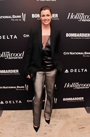 Bridget Moynahan kept her evening look classy and sophisticated with this black blazer.
