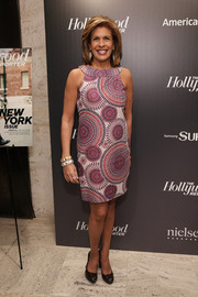 Hoda Kotb was retro-chic in her psychedelic-print shift dress at the 35 Most Powerful People in Media event.