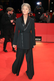 Charlotte Rampling looked stylish in a black wide-leg pantsuit at the 2019 Berlinale International Film Festival.