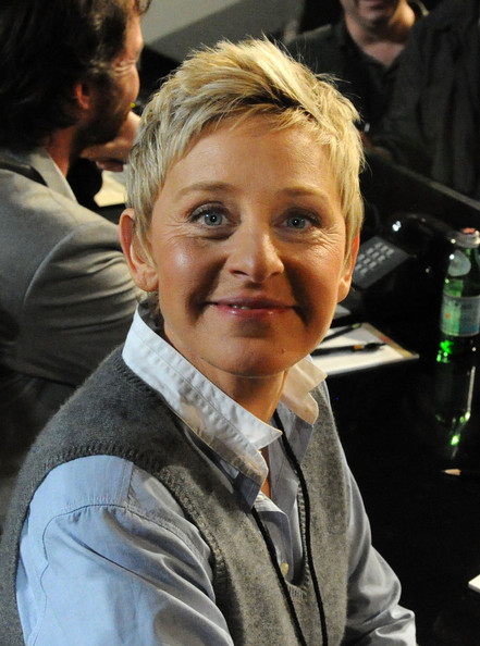 More Pics of Ellen DeGeneres Fauxhawk (1 of 4) - Ellen DeGeneres Lookbook - StyleBistro [hope for haiti now: a global benefit for earthquake relief,handout photo,hair,hairstyle,forehead,human,blond,photography,ellen degeneres,telethon,los angeles,california,mtv]