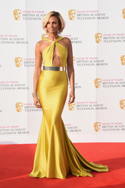 Alesha Dixon was a total jaw-dropper at the House of Fraser BAFTA TV Awards in a yellow Michael Costello mermaid gown with a keyhole cutout.