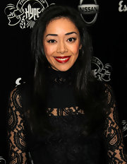 Aimee Garcia arrived at the House of Hype's 2011 MTV Video Music Awards after party flashing a flawless smile highlighted by juicy candy-apple red lips.