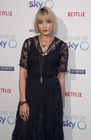 Daisy Lowe accessorized with a classic quartz watch at the House of Sky Q launch.