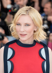 Cate Blanchett looked darling with her short blond waves at the 'How to Train Your Dragon 2' photocall.
