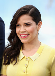 America Ferrera looked very girly with her wavy side sweep at the 'How to Train Your Dragon 2' photocall.