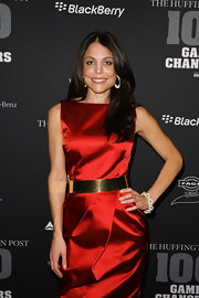 Bethenny Frankel hit 'The Huffington Post' 2012 Game Changers event wearing her shiny hair swept over her shoulder.