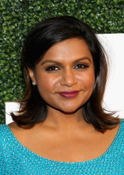 Mindy Kaling kept it classic with a pair of diamond studs.