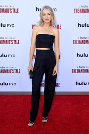 Ever Carradine looked cool at the 'Handmaid's Tale' season 3 finale celebration in a strapless Rachel Comey jumpsuit that featured a cutout along the midsection.