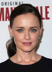 Alexis Bledel wore her hair in a demure ponytail at the 'Handmaid's Tale' FYC event.