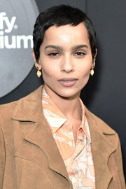 Zoe Kravitz sported her signature pixie cut at the New York premiere of 'High Fidelity.'