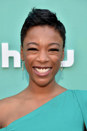 Samira Wiley looked summer-ready with her pixie at the 2018 Hulu Upfront.