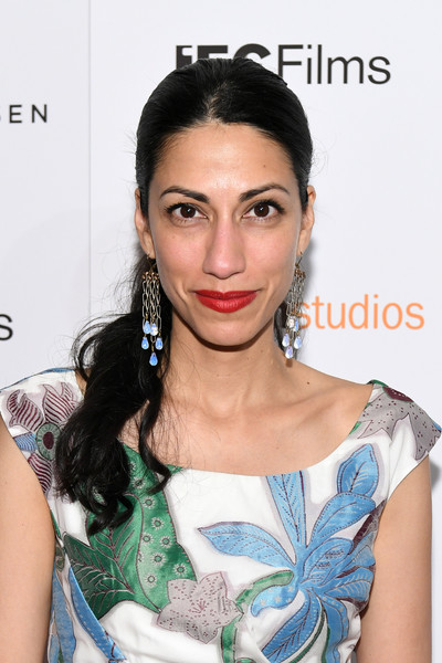 Huma Abedin Ponytail [hair,face,hairstyle,shoulder,eyebrow,lip,skin,beauty,chin,joint,arrivals,huma abedin,crown heights,new york,metrograph,premiere]
