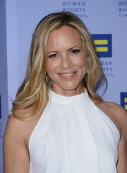 Maria Bello sported a chic feathery 'do at the Human Rights Campaign Los Angeles Gala.