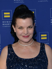 Pauley Perrette looked oh-so-cute with her retro ponytail at the Human Rights Campaign Los Angeles Gala.