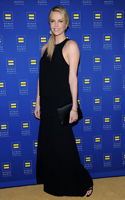 Charlize Theron wore this drop-waist gown to the Human Rights Campaign Gala in LA.