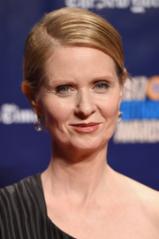 Cynthia Nixon wore her hair short and slicked down with a side part at the 2017 Gotham Independent Film Awards.