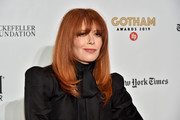 Natasha Lyonne sported a straight 'do with choppy ends and eye-grazing bangs at the 2019 Gotham Independent Film Awards.