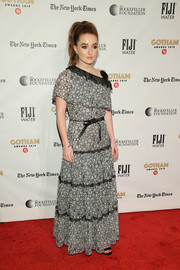 Kaitlyn Dever charmed in an asymmetrical, monochrome lace gown by Chanel at the 2019 Gotham Independent Film Awards.