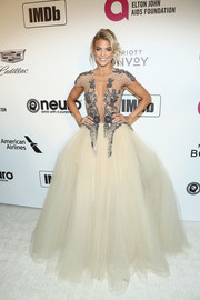 AnnaLynne McCord was a sexy princess in an embellished tulle gown by Matija Vuica at the Elton John AIDS Foundation Oscar-viewing party.